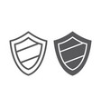 protection line and glyph icon guard and safety vector image vector image