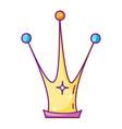 queen crown cartoon vector image