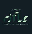 rifle font alphabet vector image