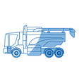 seeding agriculture vehicle concept - agronomy vector image vector image