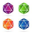 set of isolated colorful gradient gemstones vector image