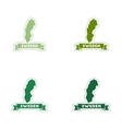 Set of paper stickers on white background Sweden vector image vector image