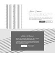 silver chains internet shop web page template vector image vector image