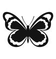 Small butterfly icon simple style vector image vector image