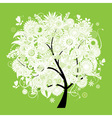 Spring beautiful white tree for your design vector image