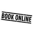square grunge black book online stamp vector image vector image