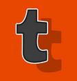 sticker unusual look tumblr social media icons vector image vector image
