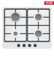 surface of gas stove vector image vector image