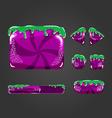 Sweet cartoon user interface games-9 vector image