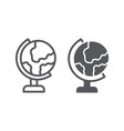 table globe line and glyph icon education and vector image