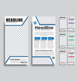 template flyer size of 210x99 mm vector image vector image