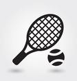 tennis icon tennis ball icon tennis racket symbol vector image