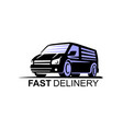van commercial delivery sign vector image