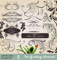 Vintage Calligraphic Design vector image vector image