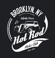 vintage hot rod tee-shirt logo vector image