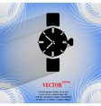 Watchclock Flat modern web button on a flat vector image vector image
