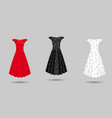 womens dress mockup collection dress with long vector image