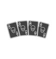 A winning poker hand of four aces playing cards vector image