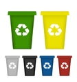 Ecological trash set vector image