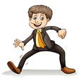 A man dancing vector image vector image