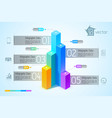 abstract business graph infographic concept vector image