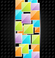 Abstract metal background with colorful squares vector image