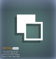 Active color toolbar icon symbol on the blue-green vector image vector image