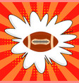 american football ball rugby sport icon sports vector image vector image