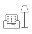 armchair and lamp icon vector image
