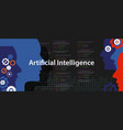 artificial intelligence ai concept technology vector image