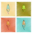 assembly flat shading style icon bell pencil ruler vector image vector image