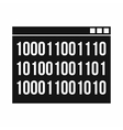 Binary code icon simple style vector image vector image