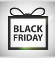 black friday sale background in form of present vector image