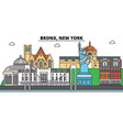 bronx new york city skyline architecture vector image vector image