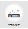car radio flat icon vector image vector image