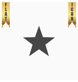 Clasic star - icon vector image vector image