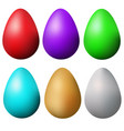 classic easter eggs set isolated colorful easter vector image vector image