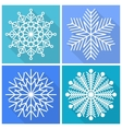 Collection of snowflakes icons vector image vector image