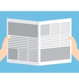 Colorful newspaper article design vector image vector image