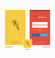 company pop splash screen and login page design vector image