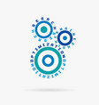 connected cogwheels search engine optimization vector image