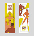 create your perfect body set banners vector image vector image
