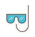 cute mask and snorkel cartoon vector image vector image