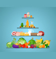different types food vector image vector image