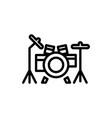 drums line icon vector image vector image