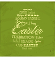easter distressed background on green vector image