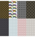 Eight geometric patterns Set of seamless