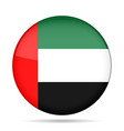 flag of uae shiny black round button vector image