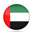 Flag of uae shiny black round button