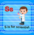 flashcard letter s is for scientist vector image vector image